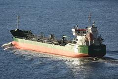 Thun Gazelle - Forth Road Bridge - 17-03-19 (MarkP51) Tags: thungazelle forthroadbridge firthofforth coastal tanker ship boat vessel nikon d7100 d7200 nikon70200f4vr nikonafp70300f4556fx kodachromeii slide film scan sunshine sunny maritimephotography