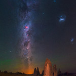 Summer Milky Way at The Pinnacles Desert, Western Australia thumbnail