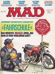 MAD #173 (micky the pixel) Tags: comics comic heft magazin satire humor bsv williamsverlag mad alfredeneumann carlodemand motorrad motorcycle honda unfall accident rennfahrer nikilauda