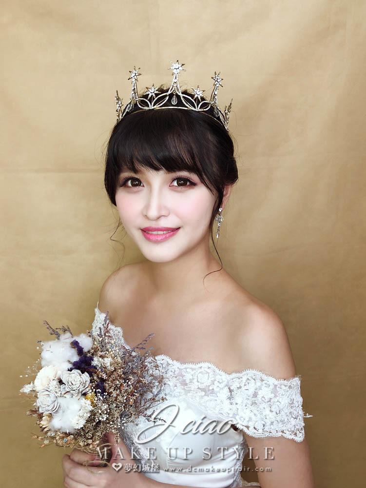 【新秘婕喬】新娘造型創作 / 皇冠白紗造型