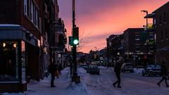 SVA06256 (streetviewannie) Tags: winterwonderland hiver winter montreal canada nightphotography streetphotography montrealstreetphotography bealpha sonyalpha alphafemale sonyimage sunset coucherdesoleil