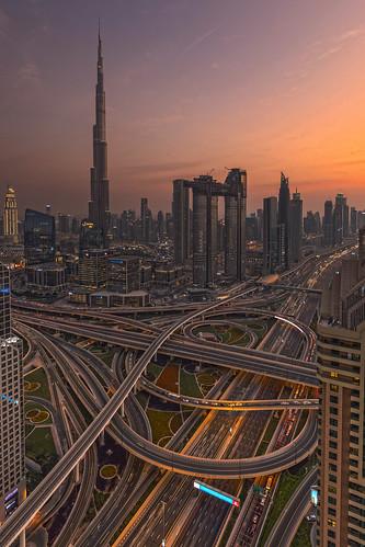 Burj Khalifa + Sheik Zayed Road