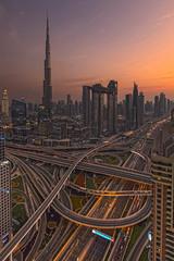 Burj Khalifa + Sheik Zayed Road (world.wideweg) Tags: burjkhalifa dubai uae unitedarabemirates sheikzayedroad traffic city downtown skyline cityscape skyscraper urban