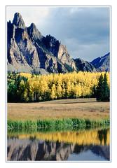 Autumn Reflections in a Colorado Meadow - 1991 (sjb4photos) Tags: colorado coloradorockies breakfastmeadow reflection autumn epsonv500 sanjuanmountains