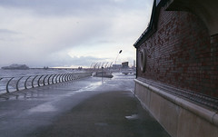 Blackpool (fraser_west) Tags: blackpool winter rain sea weather uk beach film pier analog 35mm fujifilm clouds canon eos3 travel roadtrip england wetheconspirators blackpoolpleasurebeach