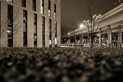 Nachts in Berlin (Pascal Volk) Tags: berlin mitte moabit agnesvonzahnharnackstrase berlinmitte invierno winter nacht night noche architecture architektur arquitectura canoneosr canonrf35mmf18ismacrostm 35mm dxophotolab dxofilmpack kodaktrix400 monochrome einfarbig sepia
