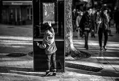Mais où va-t-on?  /   Where are we going? (vedebe) Tags: ville city rue street humain human enfant enfants noiretblanc netb nb bw monochrome