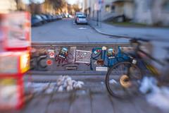 2019 Bike 180: Day 19, February 13 (suzanne~) Tags: 2019bike180 bike bicycle day19 munich schwabing bavaria germany street graffiti gooodmorningsunshine lensbaby sweet35 stencil