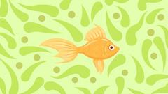 gold fish (Azumi_Infinity) Tags: aquarium fairy tale fish gold illustration orange seaweed vector water
