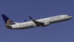 N38454_LAS_Takeoff_7L (MAB757200) Tags: unitedairlines b737924er n38454 aircraft airplane airlines airport jetliner las klas boeing takeoff mccarran runway7l