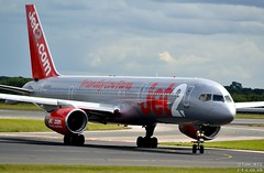 Jet2 757 G-LSAG at Manchester Airport (Tim R-T-C) Tags: 757200 boeing boeing757 glsag manchester manchesterinternationalairport aircraft airliner airplane aviation civilaviation cn24014