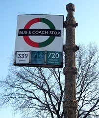 London transport bus & coach stop North Weald 24/02/19. (Ledlon89) Tags: bus buses london transport country lt lte londonbus londonbuses vintagebuses busstop coachstop greenline stop flag burnhamsigns sign burnham enamel oldsign londonsign