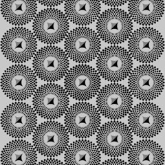 Abstract circular motif on white, rotated intersecting shapes (TaigaDraws) Tags: abstract uncolored monochrome misc miscellaneous vector abstraction black white blackwhite colorless abstractionism art artistic modern grayscale greyscale graphic editable eps10 op opart visual optical monochromatic monocrome effect illustration eps artwork graphical minimal radial mosaic motif motiff circular circle isolated element shape single pattern