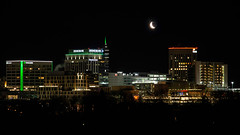 Crescent Moon Over Boise (The.Mickster) Tags: lights night boise wah hereios idaho buildings moon crescent architecture city downtown