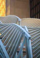 Structural Wavea (stevenbulman44) Tags: wave structure calgary 2470f28l lseries canon art artistic golden downtown white lines winter