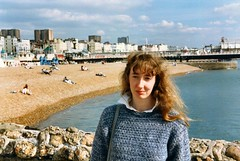 212_LindaBrighton1987 (wrightfamilyarchive) Tags: linda wright brighton beach summer 1987 1980s eighties 80s