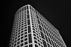Calpine Center, Houston (infrared) (dr_marvel) Tags: ir infrared houston texas tx calpine calpinecenter skyscraper building offices black clear sky