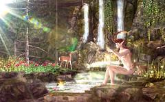 Light of Life (Varosh Santanamiguel) Tags: cerridwenscauldron cc cj swank swankevent event eventexclusive faun fairy fairytales elves fae mystical magic sim simdesign nature secondnature fallen fallengods fallengodsinc sinful sinfulneeds sn somethingnew pose bento mesh bentopose deer fawn waterfall decor decorate avatar sl twisted twistedhunt divine light hunt gift free freebie glamour areiyon vsm
