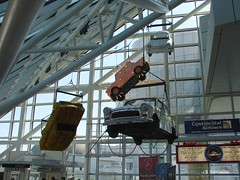 Car Mobile Sculpture in Rock 'N' Roll Hall of Fame in Cleveland Ohio (Joseph Hollick) Tags: cleveland ohio rocknrollhalloffame halloffame rocknroll mobile sculpture car