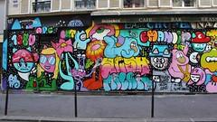 Chanoir + Yosh_3540 rue Volta Paris 03 (meuh1246) Tags: streetart paris animaux chanoir yosh ruevolta paris03 chat