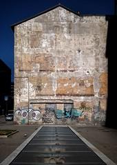Urban landscape- 38 (Rino Alessandrini) Tags: architecture builtstructure nopeople buildingexterior urbanscene wallbuildingfeature outdoors old dirty street brick abandoned empty graffiti blue city citylife industry everypixel