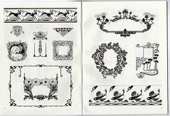 Art Nouveau motifs and vignettes (Andrea Speziali) Tags: artnouveau draw decorazione theworldartnouveau arte grafica stililizzazione marchi loghi graphics pic andreaspeziali associazioneitalialiberty