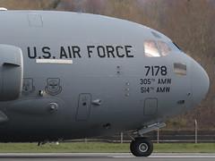 Boeing C-17A Globemaster III 07-7178 6th AS / 305th AMW (Mark McEwan) Tags: boeing c17 c17a globemasteriii 077178 6thas 6thairliftsquadron 305thamw 305thairmobilitywing usaf usairforce unitedstatesairforce pik prestwickairport prestwick aviation aircraft airplane military