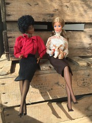 Making new friends (Dutchdollenthousiast) Tags: dream date pj barbie aa haute couture schleich
