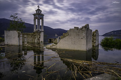 """The """"Sunken"""" Church (iosif.michael) Tags: sony a7 longexposure landscape leefilters nature water abandoned church sky clouds cyprus outdoor"""