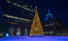 PPG Place (Brook-Ward) Tags: hdr brook ward ppg pittsburgh plate glass place plaza chirstmas holiday tree pitt burgh pgh 412 architecture building highmark night blue ice skating rink