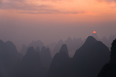 Sunset, is like a dream (Cedric Phoo) Tags: sunrise mountain landscape sony morning china guilin