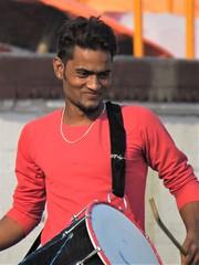 drummer boy (gerben more) Tags: man varanasi handsomeman smile smiling people portrait portret benares india