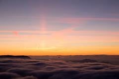 coucher de soleil (Joëlle Galley) Tags: montagne panorama alpes merdenuages coucherdesoleil hautesavoie semnoz