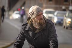 The Hairy Biker (Reckless Times) Tags: bloke bike oxford man beard facial hair hat cold winter nikon d750