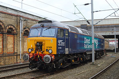 Pride of Crewe (Treflyn) Tags: drs direct rail services class 573 57 ronnie 57309 prideofcrewe waits thunderbird duties duty crewe station appropriately enough