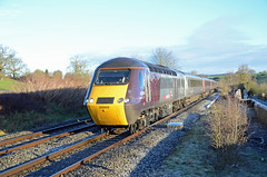 XC HST 43303, Wickwar (sgp_rail) Tags: wickwar south glos gloucestershire train trainspotting rail railway station road very cold frozen ice icy frost winter jan january 2019 nikon d7000 xc arriva cross country hst intercity 125 class 43 43303 high speed