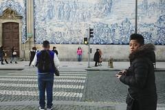 Warm light, cold day #portugal #porto #street #t3mujinpack (t3mujin) Tags: church building street urban architecture porto theme city clerigos tiles oporto portugal dourolitoral europe temple crosswalk t3mujinpack