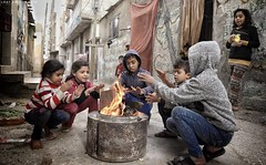 Winter atmosphere from a refugee camp in Gaza City (TeamPalestina) Tags: freepalestine palestinian sunrise sweet beautiful heritage live photo photographer comfort natural تصويري palestine nice am amazing innocent occupation landscape landscapes reflection blockade hope canon nikon