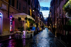 Nocturnal Rome (thegreattripinthesky) Tags: urban rome colors rain roma cityscape