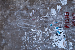 Dirty wall after removed ads (Filmostar Media) Tags: dirty dirt ads removedads paper white gray bordo words letters abstract background city cityscape