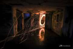 Light up the Battery (Matt Straite Photography) Tags: sparks steel wool spinning fire light painting night abandoned dark creepy military color long longexposure canon tripod park state oregon