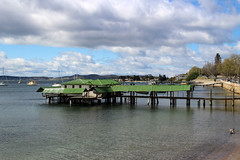 Boat Shed, Sandy Bay, Hobart, Tasmania (RossCunningham183) Tags: boatshed sandybay hobart tasmania australia wharf jetty derwentriver yachts