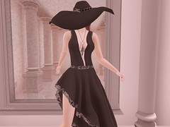 Entrance no.376 (Curiosse) Tags: asymmetrical dress hat black 2019 march beautiful femenine exclusive swank chic sexy classic luxeparis new release