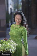Ao Dai Vietnamese Traditional Dress (Hai Tuoi) Tags: ao dai vietnamese traditional dress fantasy art photography viet nam model nguoi mau green verde girlsingreen