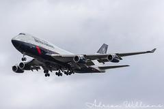 British Airways Boeing 747-400 G-BNLY Landor Retro (Adrian Williams P H O T O G R A P H Y) Tags: london heathrow airport lhr egll ba baw british airways boeing 747 744 747400 400 jumbo jet airliner airline landor retro ba100 gbnly v1 images