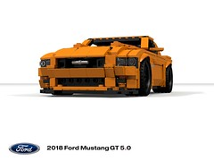 My other car IS a Mustang - 2018 GT 5.0 (lego911) Tags: ford mustang motor company s550 mca 2018 orange donald loud exhaust v8 50 coupe auto car moc model miniland lego lego911 ldd render cad povray usa america american afol