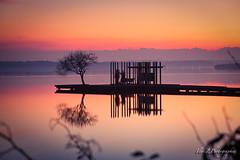Ponton d azur (flo40140) Tags: canon 6d 70200f4l haidand1000 landscape landes lac lake longexposure longtime aquitaine azur paysage soleil sun france contrejour water coucherdesoleil nature sunset