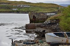 Litter on the Loch... (Harleynik Rides Again.) Tags: scalpay outerhebrides isleoflewis loch barge concrete oldwoodenboat trash treasure harleynikridesagain