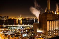 ConEdison at Night, NYC. (IronBokeh) Tags: newyork newyorkcity nyc ny manhattan brooklyn queens night nightlights plant conedison city cityscape industrial