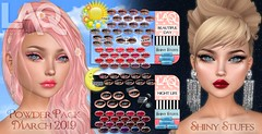 LAQ March Powder Pack is finally here! (Tarani Tempest) Tags: secondlife shinystuffs laq powderpack